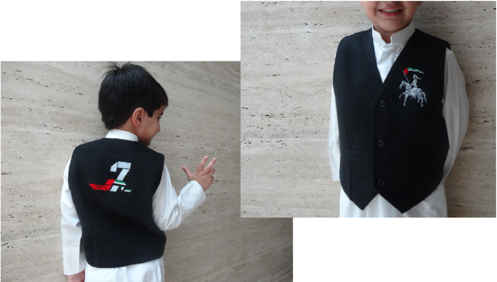 MONOGRAM BOYS VEST - wool. finely embroidered
